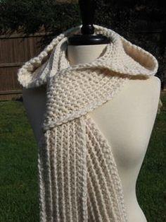 Ravelry: Nordic Hooded Scarf pattern by Deborah Devlin