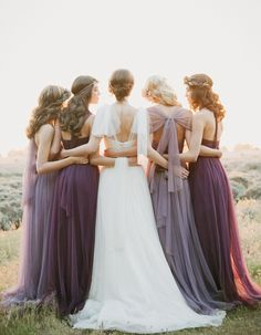 tulle lavender long multiway bridesmaid dresses 2015