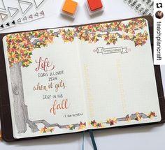 Inspirations automnales pour Bullet Journal: bucket list, dessins, illustrations, stickers, Halloween! Célébrez la saison de l\'automne dans votre BuJo !