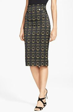 Versace Collection Jacquard Pencil Skirt available at #Nordstrom