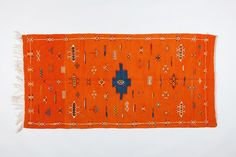 Orange Berber Moroccan Rug