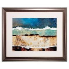 """Abstract framed print.Product: Wall artConstruction Material: Matboard, glass and polystryeneColor:  MultiDimensions: 29"""" H x 35"""" W x 1"""" DCleaning and Care: Wipe clean with dry cloth"""