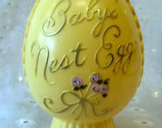 Baby's Nest Egg Vintage Savings Bank by Plakie - Edit Listing - Etsy