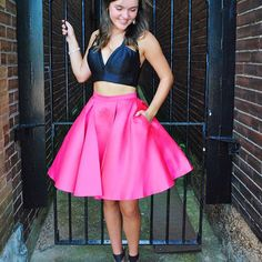 SO excited for y'all to start seeing our new #Homecoming arrivals! 😍😱👊🏻💕 Black and Pink Homecoming Dress. New Homecoming Dress. 2 piece Homecoming Dress.  . . . #Mimis #MimisGirl #BeAMimisGirl #Hoco #Homecoming #Hoco2017 #Hoco2k17 #HomecomingDress #Stl #StlDress #Prom #PromStore #PromShop #StlProm #ShortDresses #Jovani #JovaniDress #JVN ✨