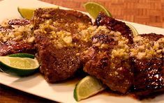 Cuban-Style Flat Iron Steak with Lime, Orange, Cumin, and Oregano