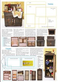 High resolution scanned tutorials for tiny furniture (w/ templates) (lang.: spanish)