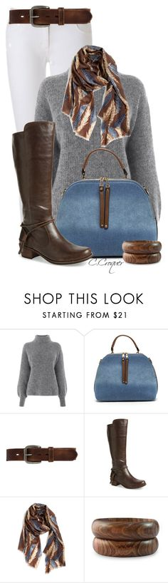 """""""Grey Sweater & Brown"""" by ccroquer ❤ liked on Polyvore featuring MICHAEL Michael Kors, Warehouse, Bed