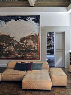 Elle Decor- Extrasoft by Piero Lissoni Elle Decor, Exterior Design, Interior And Exterior, Interior Modern, Room Inspiration, Interior Design Inspiration, Design Ideas, Living Divani, Home Deco