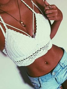 Cupshe Found Love Crochet Bikini Top