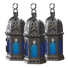 Moroccan Lanterns Blue 3 Pack now featured on Fab.
