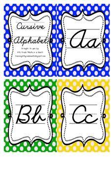 Cursive Alphabet (Polka Dots) by Mario Marzullo Cursive Alphabet, Study Habits, Penmanship, Lower Case Letters, Teacher Newsletter, Lowercase A, Mario, Bee, Polka Dots
