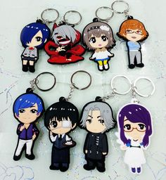 Toys & Hobbies Honest 1 Pc Cute Anime Tokyo Ghoul Acrylic Keychain Cartoon Character Design Women Men Keyrings Fashion Backpack Accessories Figure Toy In Pain