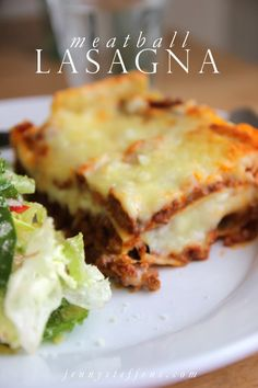 Easy Meatball Lasagna | #FreezerMeal