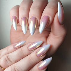 Стильные идеи маникюра — Фото | OK.RU Sparkle Nails, Gradient Nails, Holographic Nails, Pink Nails, Glitter Nails, Gel Nails, Simple Wedding Nails, Simple Nails, Nagellack Design