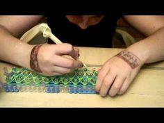 NEW Rainbow Loom bracelet The Cobra!!!! - YouTube