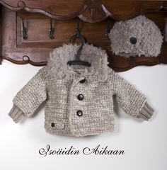 Pakkaspojan takki / Knitted and crocheted coat for a small boy