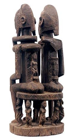 Dogon primordial couple, Mali, 20th century (wood)