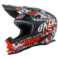 2016 ONeal 7 Series Evo Motocross Helmet - Menace Neon Red