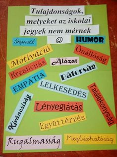 Ezek az igazán fontosak Teaching Displays, Word 2, Teaching Aids, Educational Leadership, Positive Thoughts, Classroom Decor, Classroom Management, Special Education, Teacher