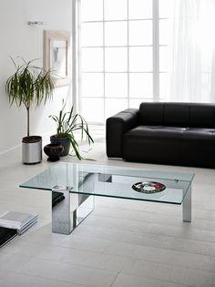 Glass Coffee Table PLINSKY By Tonelli Design Design Giulio Mancini