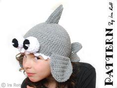 Crochet Shark Hat PDF  Time to start making J's winter hat :)