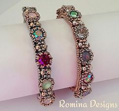 Parisella Crystal Bracelet Tutorial by RominaDesigns on Etsy