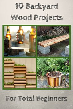 These simple wood working projects will fill your backyard with character, and are easy enough for beginners to accomplish. Which one will you pick?