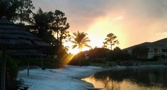 The perfect backyard,  and its mine. Blessed, Tikis, beach,  sand and sunsets. I couldn't ask for more.