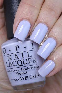 Here are the 10 most popular nail polish colors at OPI - My Nails Pastel Nails, Purple Nails, Trendy Nails, Cute Nails, Pedicure, Acryl Nails, Nail Lacquer, Cream Nails, Opi Nails