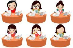 Office Women Iconset (10 icons) | DaPino