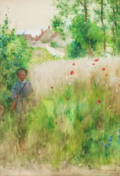 1884 Vallmor Poppies ~ Carl Larsson