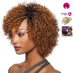 Purple Pack 3pcs Big Beautiful Hair 3C Whirly Braided Ponytail Hairstyles, Crochet Braids Hairstyles, African Braids Hairstyles, Cute Hairstyles For Short Hair, Weave Hairstyles, Curly Crochet Hair Styles, Curly Hair Styles, Natural Hair Styles, Hair Twist Styles