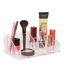 Take a look at this Clear 16-Compartment Cosmetic Organizer by Richards Homewares on #zulily today!