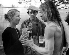 Kate Moss, Johnny Depp, Iggy Pop. London, 1996.  Photo by Bob Gruen.