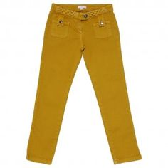 Jeans in denim stretch giallo senape