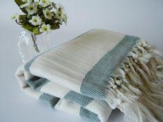 Traditional Handwoven Turkish Bath Towel Soultan by TheAnatolian, $28.00