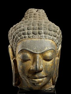 Head of Buddha, second half of the 7th century. Western Thailand.