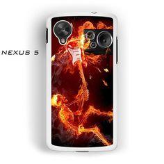 Flaming skull AR for Nexus 4/ Nexus 5 phonecase