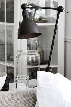 Cool reading lamp, antiqued bronze, vintage or eclectic, lighting ideas for the house