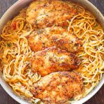 Chicken Pasta in Creamy White Wine Parmesan Cheese Sauce will remind you of your favorite Italian dining experience! Italian seasoning, white wine and Parmesan cheese come together as one to flavor this creamy chicken pasta combination. With only 30 minutes of total work, it's simple, fast and delicious!