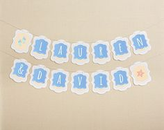Personalized Beach Banner - Flip Flops and Starfish
