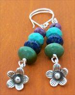 handmade turquoise totem pole earrings