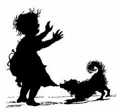 Образы детства в силуэтах Елизаветы Бём