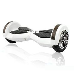 Fancy - 8 inch Smart Self-balancing Scooter with Built-in Bluetooth Speaker/ Led Side Light / WHITE