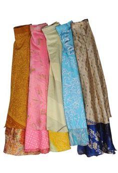 Boho Gypsy Indian Dress Recycled Printed Sari « Dress Adds Everyday