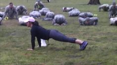 "Ft. Sill News Reports: The soldiers then faced the fitness expertise of Jeannie St. Amour Marshall, a civilian personal trainer. Being held out in the field, she relied on body-weight exercises instead of equipment to produce the results she wanted. ""We did continuous circuits of 1 min intervals working the upper & lower body, total body & abdominals in different ways to increase endurance & strength.  http://www.army.mil/article/100858/"