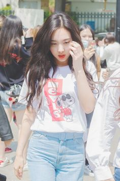 dedicated to female kpop idols. Nayeon Twice, Im Nayeon, Cute Bunny, Girl Group, Ruffle Blouse, Hipster, T Shirts For Women, Tops, Non Fiction