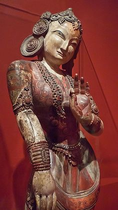 Nrtyadevi Goddess of Dance Nepal Kathmanda Valley Malla Period Mid 15th century CE Newar Culture Wood and Polychrome