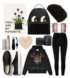"""""""Untitled #291"""" by poorvashikalra ❤ liked on Polyvore featuring River Island, Gucci, Les Petits Joueurs, Rick Owens, Ilia, Lancôme, Nordstrom, Major Moonshine and Nikon"""