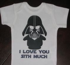 Darth Vader Star Wars tee  I love you sith much Etsy